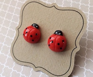 cupcakes, earings, and ladybug and chat noir image