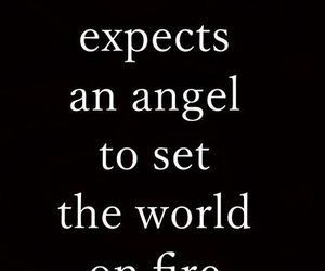 angel, quotes, and fire image