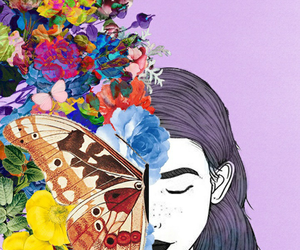 wallpaper, flowers, and art image