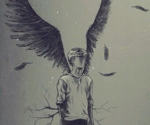 newt, angel, and drawing image