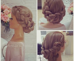 hairstyle, style, and wedding image