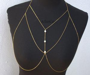 body jewelry and bra chain image