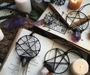 crystal, book, and candle image