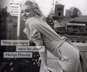 Marilyn Monroe, night, and quote image