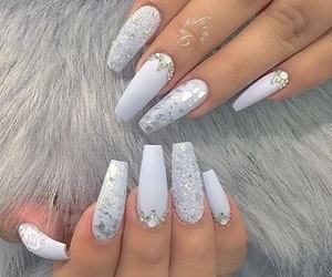 nails, style, and white image
