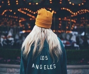 girl, light, and los angeles image