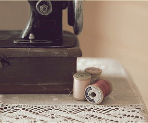 vintage, lovely, and sewing machine image