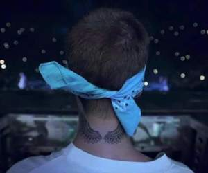 tattoo, wings, and justin bieber image