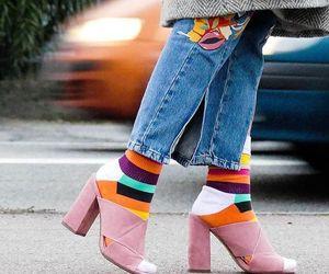 coat, heels, and pretty image
