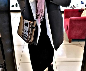 hijab, shopping, and hidjab image