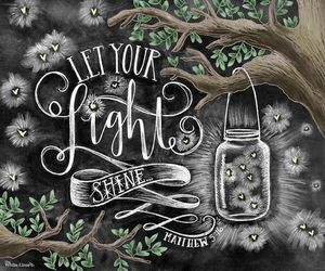 chalk art, etsy, and fireflies image