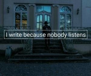 write, alone, and sad image