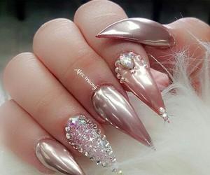 acrylic, long nails, and luxury image
