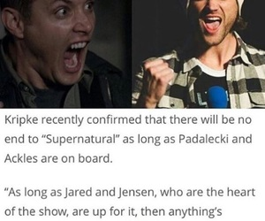 jared padalecki, supernatural, and Jensen Ackles image