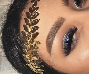 makeup, style, and gold image