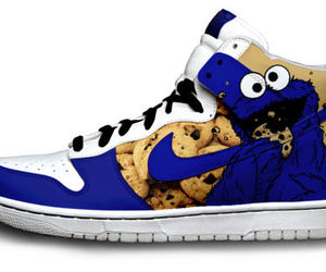 nike, cookie monster, and shoes image
