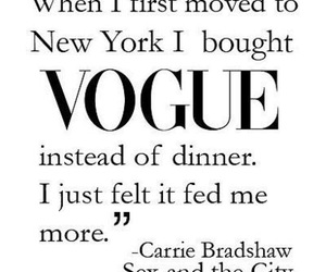 vogue, sex and the city, and Carrie Bradshaw image