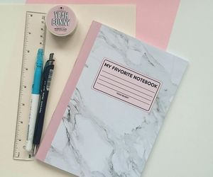 marble, notebook, and pastel image