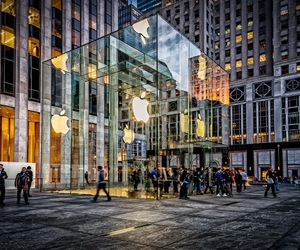 5th avenue, america, and Apple Store image