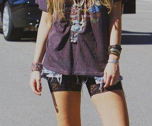 fashion, girl, and miley cyrus image