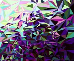 art, geometric, and green image