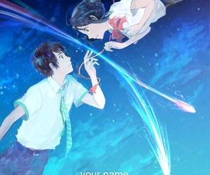 anime, kimi no na wa, and couple image