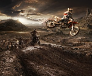 cool, race, and dirt bike image