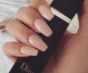 nails, dior, and pink image