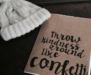 confetti, handlettering, and happiness image