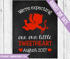 announcement, valentinesday, and baby announcement image