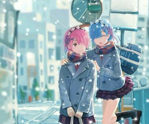 adorable, anime, and snow image