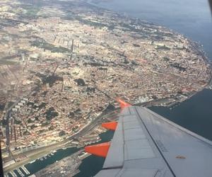 airplane, cielo, and plane image