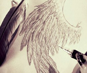wing, wings, and art image