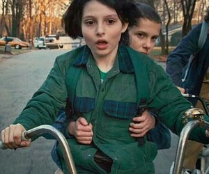 eleven, shook, and stranger things image