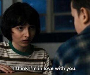 eleven, stranger things, and love image
