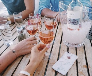 drinks, tumblr, and wine image