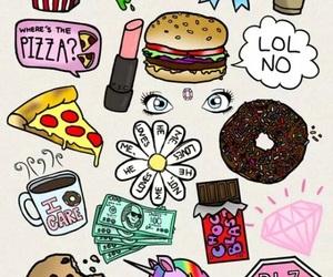 pizza, unicorn, and wallpaper image