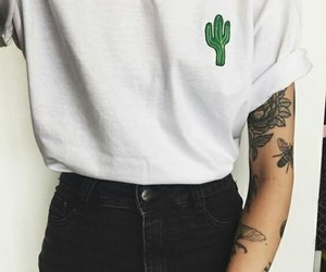 cactus, style, and tattoo image