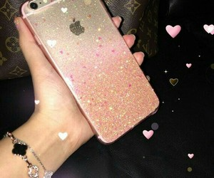case, glam, and hearts image