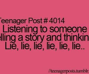 lies, story, and teenager post image