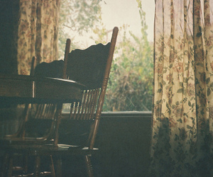 vintage, chair, and window image