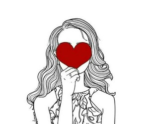 heart, drawing, and red image