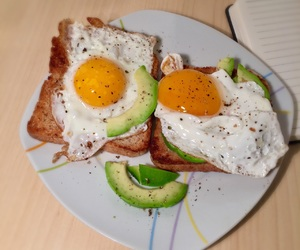 avocado, eggs, and fit image