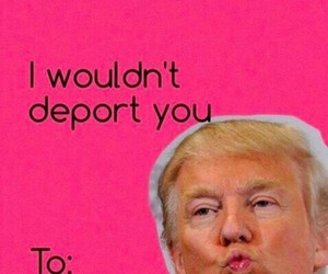 lol, trump, and valentine image