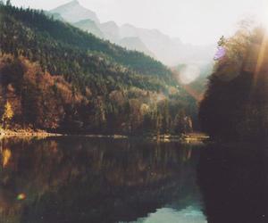 lake, landscape, and vintage image
