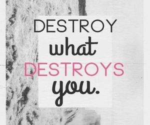 quote, destroy, and text image