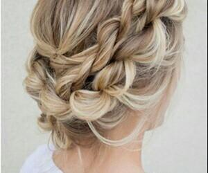 blonde, braid, and crown image