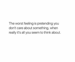 care, feeling, and quote image