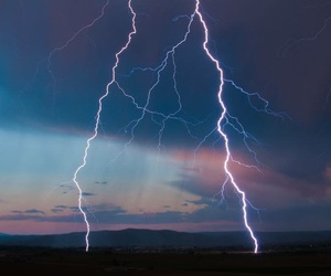 sky, lightning, and nature image