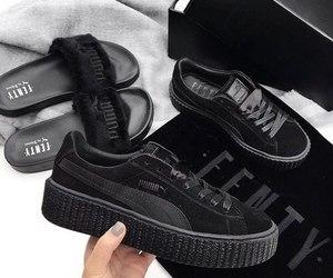 puma, black, and shoes image